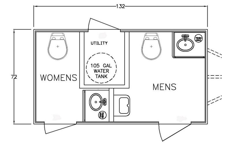 2-Stall-Floor Planforluxuryrestroomtrailer-poshpottyrents-SouthernOregon
